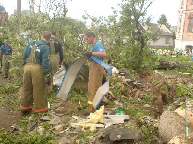 Тамбовские спасатели отправились на борьбу с последствиями смерча