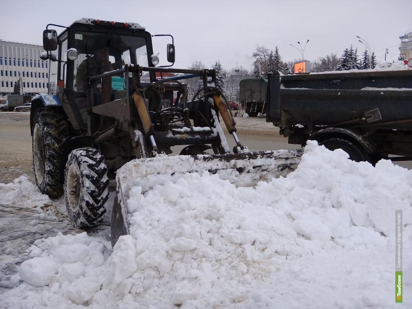 Для уборки Тамбова от снега не хватает рабочих рук
