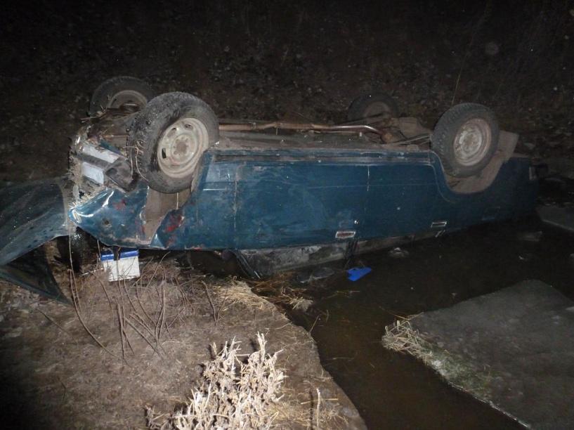 В Тамбовской области с обрыва упал автомобиль