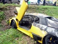 Минус один: редкий Lamborghini спалился в российской глубинке