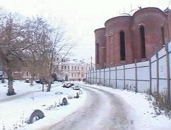 Вознесенский храм в Тамбове продолжают строить