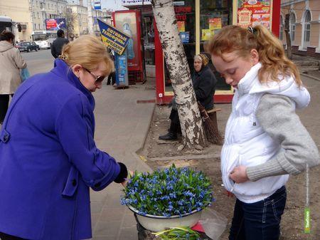 Тамбовские продавцы открыли сезон подснежников