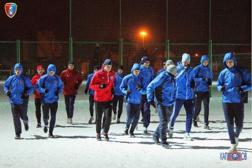 У ФК «Тамбов» стартовал первый тренировочный сбор