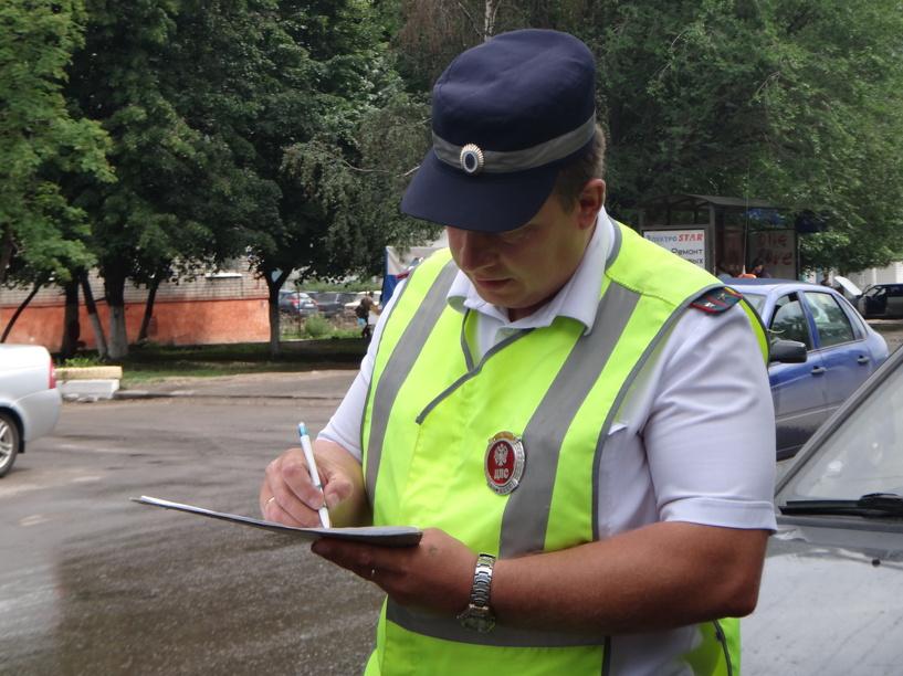 На тамбовских дорогах поймали 40 злостных нарушителей ПДД