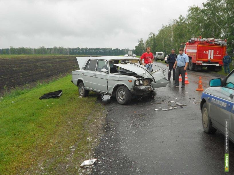 Тамбовского автомобилиста занесло на мокрой дороге