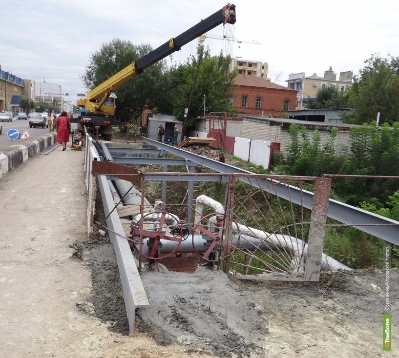 Новый пешеходный мост тамбовчане получат в конце сентября
