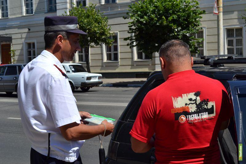 Тамбовские автоинспекторы продолжают ловить пьяных водителей