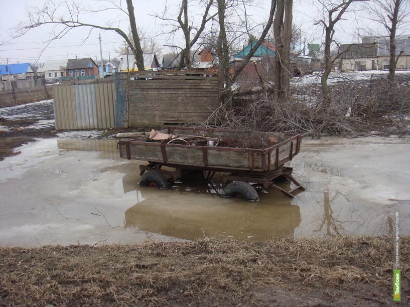 Талая вода залила подвалы домов в Мордовском и Тамбовском районах