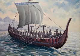 К тамбовской пристани причалит струг с гребцами
