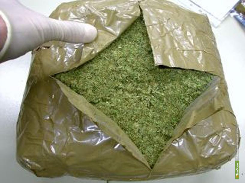 Студент пытался провезти в Тамбов почти полтора кило марихуаны