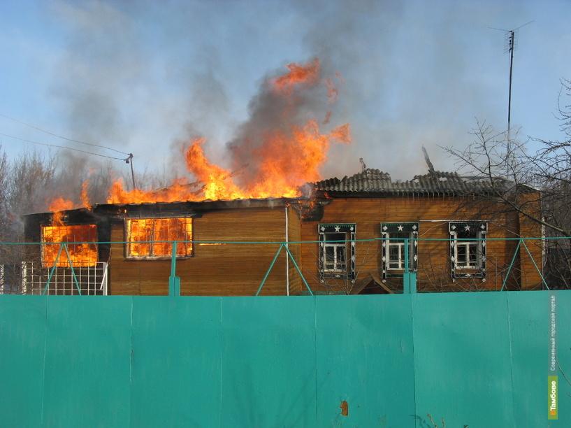 На пожаре под Тамбовом погибла женщина
