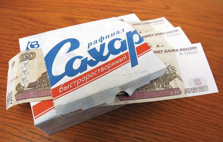 Падение рубля и дорогие кредиты: цены на сахар в магазинах за год подскочили на 40%