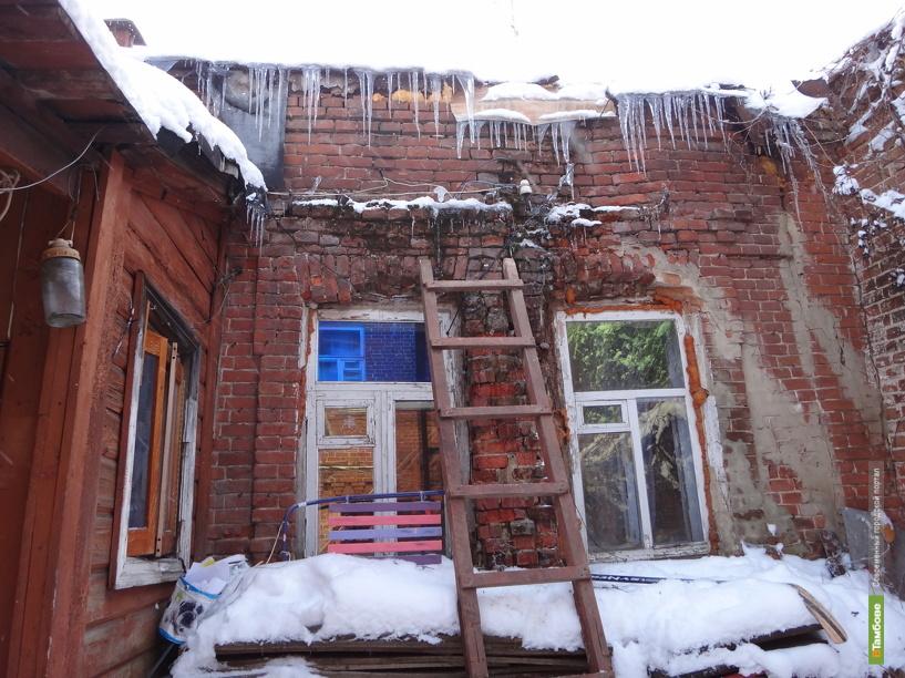 В одном из домов Тамбова рухнула потолочная балка