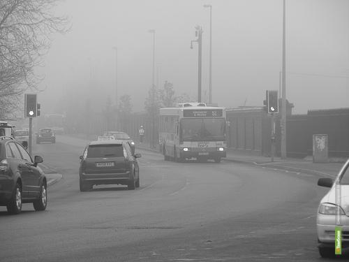 Тамбовские автоинспекторы запретили автобусам ездить по трассе в тумане