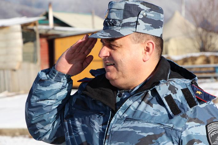 Начальник тамбовской полиции навестил подчинённых на Северном Кавказе