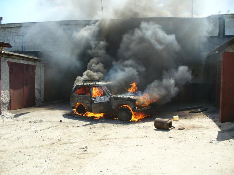 В Никифоровском районе сгорела «Нива»