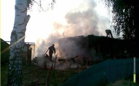 В Тамбовской области за сутки сгорел дом и автомобиль