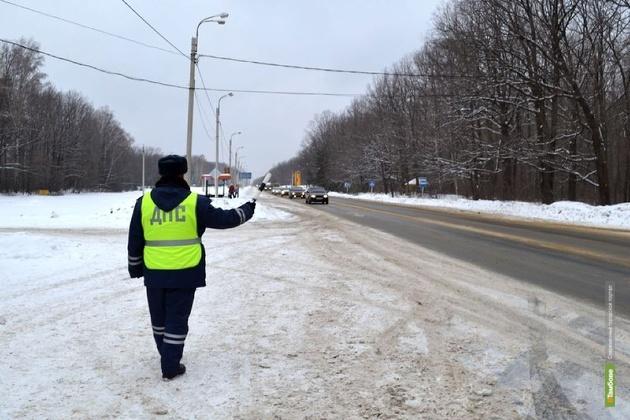 Из-за сильных морозов тамбовские автоинспекторы усилили контроль на дорогах