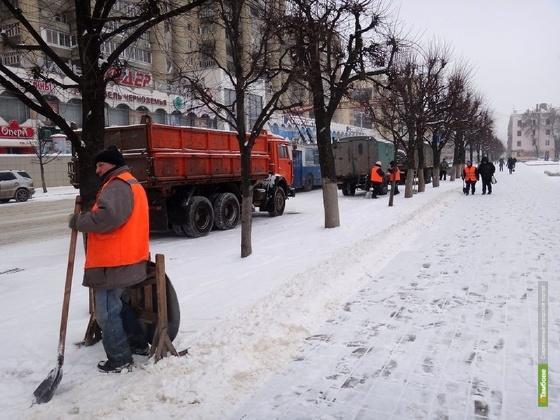 Тамбовские коммунальщики взялись за расчистку дорог от снега