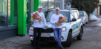 «Цветочный патруль» ŠKODA подарил тамбовчанкам праздничное настроение