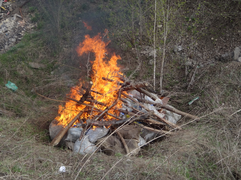 Тамбовские наркополицейские сожгли 14 килограммов наркотиков