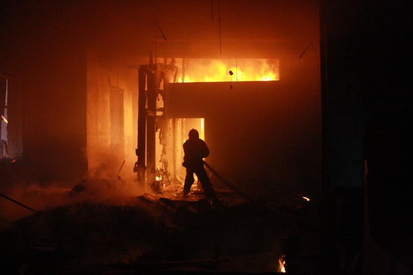 Во время пожара в Сампурском районе погиб человек
