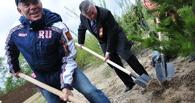 Олег Газманов посадит деревья в Уварово