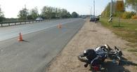 На выезде из Тамбова мопед столкнулся с рейсовым автобусом
