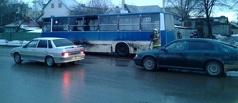 В Тамбове загорелся пассажирский автобус