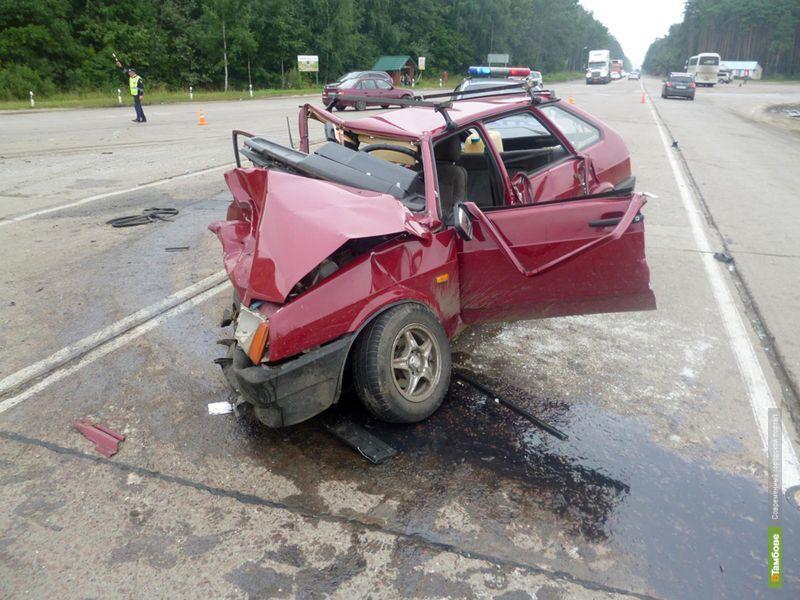 В аварии у села Большая Липовица пострадали 8 человек