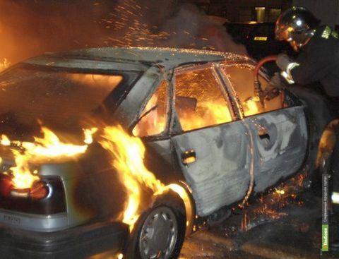 В Мордовском районе загорелся гараж с автомобилем внутри
