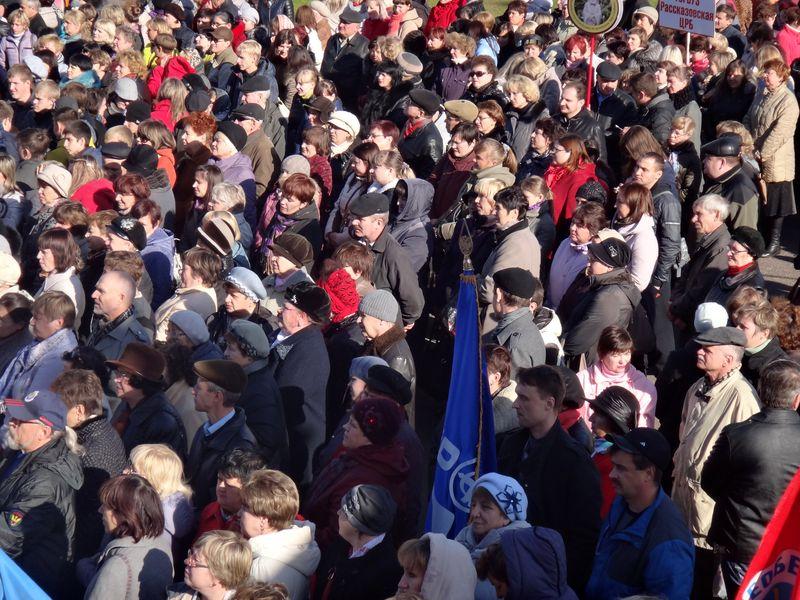 Тамбовчане вышли на митинг «За достойный труд без войн и санкций»