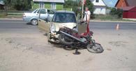 В Рассказово автоледи не пропустила мотоциклиста