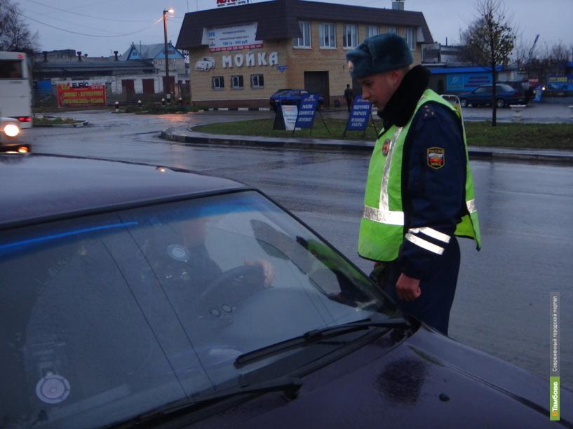 За два дня тамбовские автоинспекторы поймали 10 пьяных автомобилистов