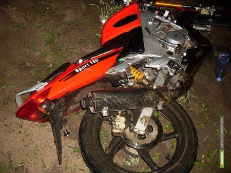 Тамбовчанин на ходу упал со скутера