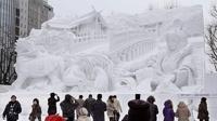 В Японии открылся снежный фестиваль