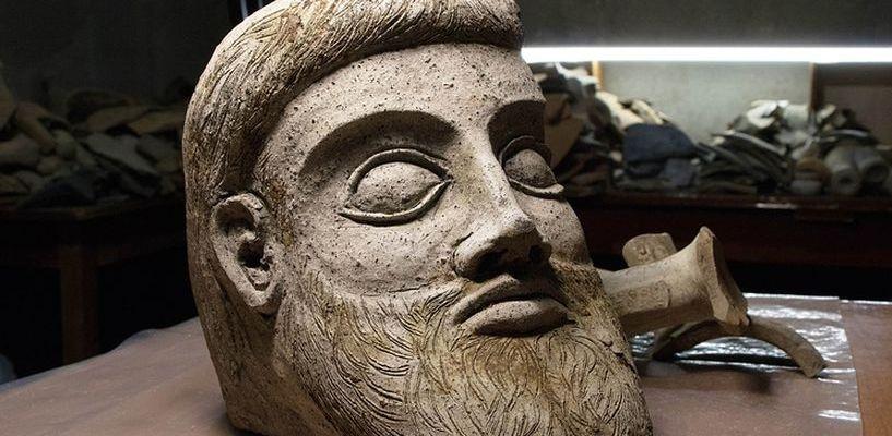 При строительстве Крымского моста нашли голову древнего божества