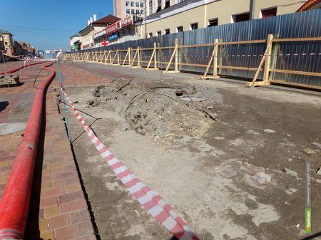 На «тамбовском Арбате» прорвало канализацию