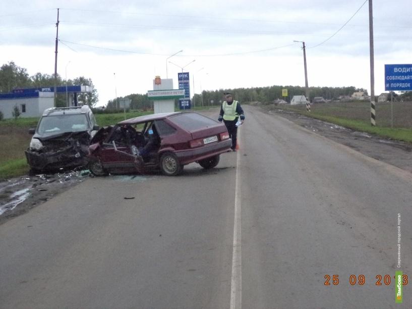 В Рассказовском районе молодой автомобилист устроил ДТП