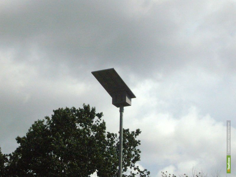 На дорогах Тамбовщины появились фонари на солнечных батареях