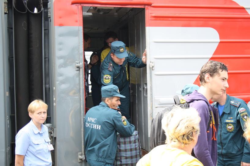 В Мичуринске встретили еще одну партию украинских беженцев