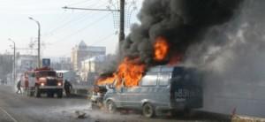 На тамбовской трассе сгорел автомобиль «Газель»