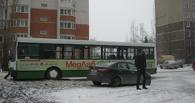 На юге Тамбова автобус столкнулся с «Киа Рио»