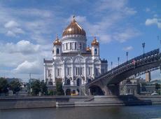 В Москве в Храме Христа Спасителя поймали вандала