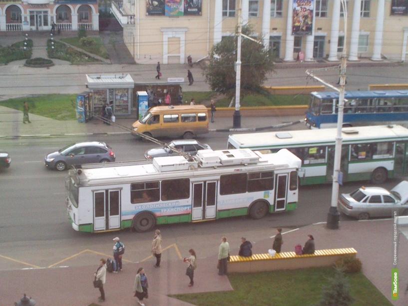 В Тамбове ограничили движение троллейбусов