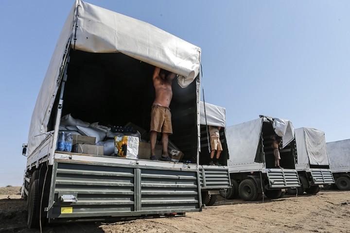 Украина признала российский груз гуманитарной помощью