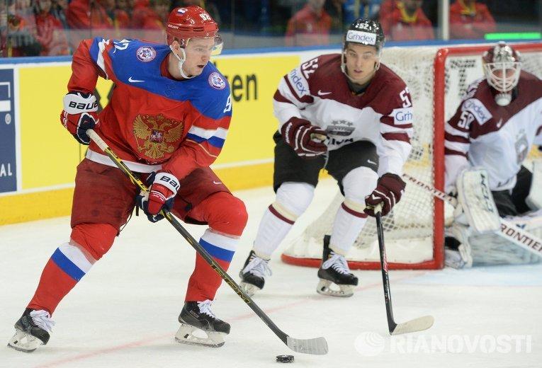 Россия обыграла Латвию на чемпионате мира по хоккею