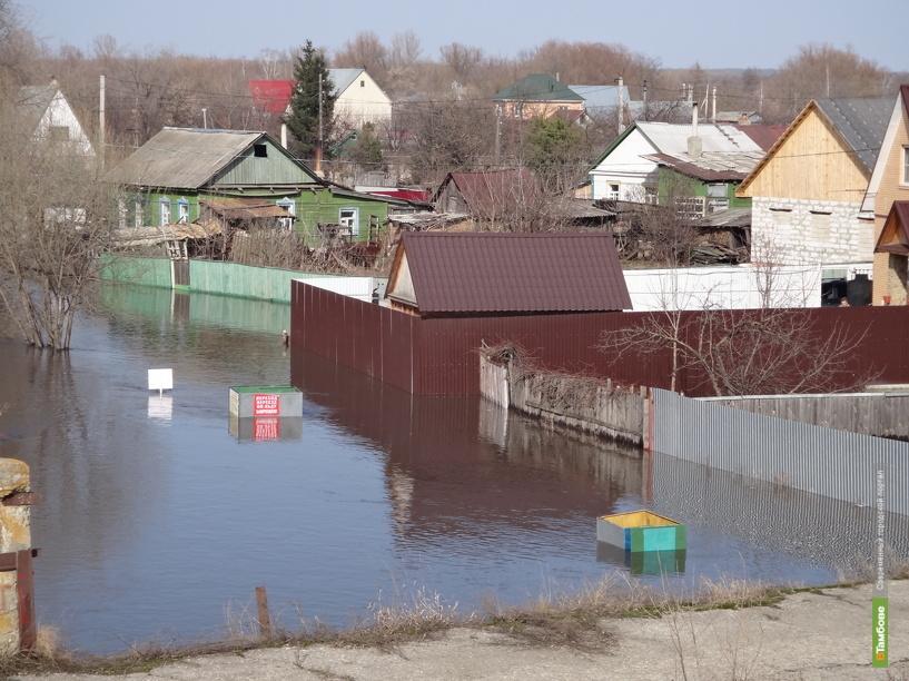 Жилые дома в Сосновском районе под угрозой подтопления