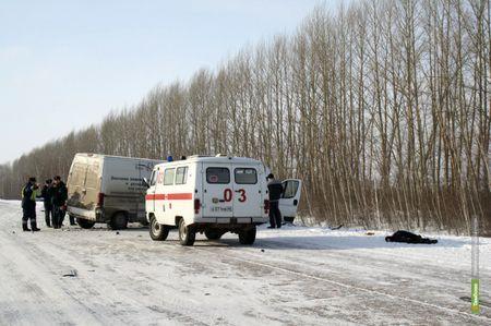 Под Тамбовом столкнулись  два фургона