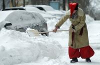 В Киеве из-за небывалого снегопада понедельник объявили выходным